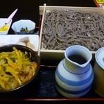 13509195 - ランチBセット(お蕎麦と小かき揚げ丼)