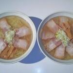 135094315 - 会津山塩ラーメン、会津山塩チャーシュー麺