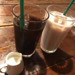 プー横丁 - アイスコーヒー 微糖 ミルクティー(アイス)微糖