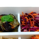 パリヤ - 米茄子グリル アンチョビとケッパーのソース、紫キャベツと人参のラぺ ♪