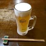 かもせ屋 - 生ビール(風味爽快ニシテ)