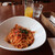 エノテカ・リオーネ - キノコとアンチョビのトマトソーススパゲティ