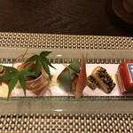 湖山亭うぶや - 料理写真:前菜