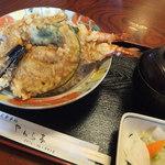 やわら亭 - ジャンボ天丼¥998