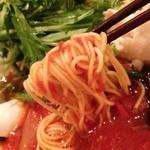 トロケの台所 - 麺は細めんストレート