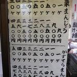 藤掛屋 - 栗まんじゅうとカステラまんじゅうの個数と値段