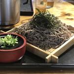 玄八そば蔵の門 - ざるそば¥600+麺倍盛り¥300