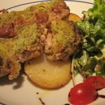 13513164 - メイン:若鶏のマスタード香草パン粉焼き