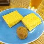 Souhonkesarashinahorii - 玉子焼(¥750)。明快に振り切った甘口、添えられた醤油おろしは辛口。その相性を楽しむ