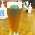 総本家更科堀井 - 赤坂生ビール(¥700)。赤坂発祥のホッピービバレッジが製造。ラガータイプだが、はっきりと甘みが感じられる