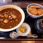 135133576 - カレーラーメンとミニタレかつ丼セット