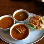 ジャイプール - Bランチ (チキンカレー、野菜カレー、豆カレー)
