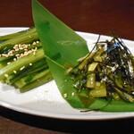 135148018 - 野沢菜漬とわさび菜漬