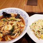 Benitoragyouzabou - 五目とろみ麺と半チャーハン 1320円