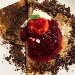 135157428 - 木苺ジャムチョコ+バニラアイス