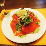 イタリアン マリオ - スモークサーモンのサラダ