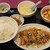 迎賓楼 - 油淋鶏+麻婆豆腐定食 850円