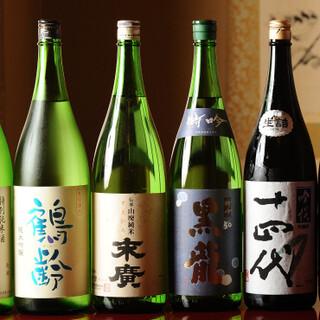日本酒や焼酎、ドン・ペリニヨンまで幅広いお飲み物をご用意。