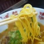 中華そば 極み - やや加水の高い黄色い中細麺