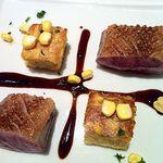 13520343 - 肉料理、鴨胸肉のローストです。