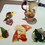 13520347 - 冷製前菜、マロニエスタイルのサラダです。