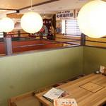 阿波水産 - 一番人気は半個室の堀ごたつ風テーブル 6名様まで