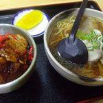 山香食堂 - 豚丼セット 900円
