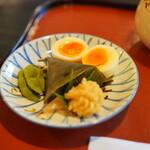 瓢亭 - 料理写真:名物の瓢亭玉子