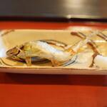 瓢亭 - 鮎の塩焼き:本店で焼いて持ってきてもらいました
