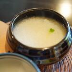 瓢亭 - 粥:茶碗で軽く3杯はある