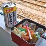 ホテルハイマート - 料理写真:鱈めし & 缶レモンサワー