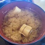 勢登鮨 - 味噌汁
