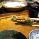 みかわ 是山居 - 2012.06.21 バフンウニ大葉巻き