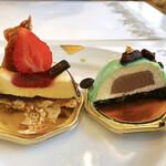 ダロワイヨ - クロッカントフレーズ、ジャッド(ミントムースにショコラクリーム・クッキークランブル)