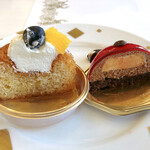 ダロワイヨ - サヴァランオフリュイ、コクシネル(ショコラムースとバニラクリームのてんとう虫)