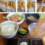 串あげ屋 一會 - 料理写真:いちえ定食(1312円)