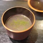 炭火割烹 いふき - 甘鯛のスープ