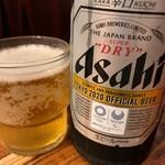 たつ屋 - 瓶ビール(中)