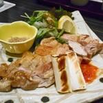 越後の蔵 和心づくし あさひ山 - 越の鶏 天然塩炙り焼き