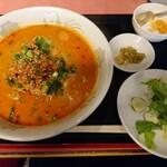 菜香楼 - ラーメンセット(担々麺)(800円)これ+ミニチャーハン