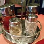 菜香楼 - 卓上の調味料