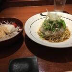 yuechixaitsuxonfa- - 豆腐サラダと天然活〆鯛の和えそば