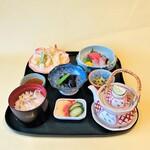 四季茶寮えど - 【松茸御膳】季節限定メニュー松茸ご飯、松茸の天ぷら、松茸の土瓶蒸しをご賞味ください。