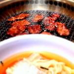 竹りん - ランチメニュー 麺焼肉セット1300円
