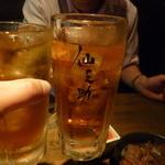 仙之助 - ウーロンハイで5杯目の乾杯!