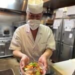 The四季處 飛来 - お料理は、事前にお取り分けすることも可能です。