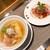 成城青果 - 料理写真:塩そば、肉丼セット(1,000円)