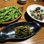 たいし - 枝豆、葉ワサビ、亀の手