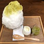 抹茶庵けんしん - ピスタチオのカキ氷