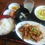 オロチョンラーメン - スタミナ定食(鳥定)